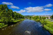 The River Tweed as it flows through the Scottish Borders town of Peebles, Scotland Andrew Wilson/Scottish Viewpoint may,Peebles,River Tweed,Scotland,Scottish Borders,spring,springtime,sunshineuk,u.k,Great Britain,GB,G.B,Scottish,nobody,daytime,outdoors