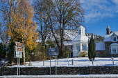 Braemar in snow, winter sunlight, Aberdeenshire,  Highlands Region, Scotland UK Dennis Barnes/Scottish Viewpoint uk,u.k,Great Britain,GB,G.B,Scotland,Scottish,nobody,daytime,Braemar,snow,winter,sunlight,village,royal