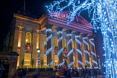 Edinburgh Christmas lights and festivities, the dome, george street,  Scotland, UK. Dennis Barnes/Scottish Viewpoint uk,u.k,Great Britain,GB,G.B,Scotland,Scottish,group,nightime,Edinburgh,city,Christmas,lights,festivities,dome,george,street,Lothian,xmas