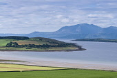 Ettrick bay, Isle of Bute with Isle of Arran in distance Allan Wright/Scottish Viewpoint uk,u.k,Great Britain,GB,G.B,Scotland,Scottish,nobody,daytime,outdoors,bute,ettrick bay,argyll,arran,firth of clyde,bay,headland,island,beach,beaches,sand,sandy,coast,coastal,coastline,water,sea