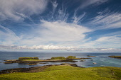 Hebridean skies from Lunga, Treshnish Isles Allan Wright/Scottish Viewpoint uk,u.k,Great Britain,GB,G.B,Scotland,Scottish,nobody,daytime,outdoors,atmospheric,blue sky,bright,enchanting,hebridean,peaceful,romantic,summer,sunny,blue,colourful,island,islets,sea,escapism,nature,c