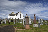 canisbay church;caithness;scotland Mark Hicken /Scottish Viewpoint uk,u.k,Great Britain,GB,G.B,Scotland,Scottish,nobody,daytime,outdoors,caithness,stone,kirk,church,canisbay,canisbay kirk,canisbay church,gravestones,graves,graveyard,ancient,17th century,saddleback to