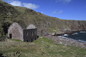 fishing bothy;sarclet;thrumster;caithness;scotland Mark Hicken /Scottish Viewpoint uk,u.k,Great Britain,GB,G.B,Scotland,Scottish,nobody,daytime,outdoors,fishing bothy,bothy,herring village,remote,rocky,north sea,waves,sarclet,spring,caithness,cliffs,coast,coastal,crofting,thrumster,