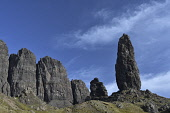the old man of storr;trotternish peninsula;isle of skye;scotland Mark Hicken /Scottish Viewpoint uk,u.k,Great Britain,GB,G.B,Scotland,Scottish,nobody,daytime,outdoors,the storr,trotternish,trotternish peninsula,old man,old man of storr,skye,sound of raasay,peninsula,pinnacle,hills,island,isle,isl