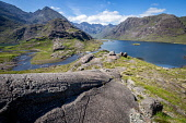 Loch Coruisk on a bright sunny summer afternoon on the Isle of Skye Jason Baxter /Scottish Viewpoint Black Cuillins,Cuillins,Loch Coruisk,beautiful,beauty,geography,geology,hills,isle of skye,loch,mountainous,mountains,natural light,nature,quiet,remote,rocks,rocky,rugged,scenery,scenic,scotland,scott