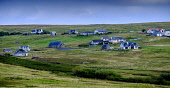 Some houses in the scattered village of  Lower Bayble, Point,  near Stornoway, Isle of Lewis, Outer Hebrides, Scotland Andrew Wilson  /Scottish Viewpoint Isle of Lewis,Lower Bayble,Outer Hebrides,Point,Scotland,houses,scattered,village,remote,housing,scottish