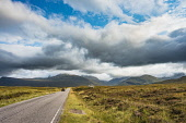 The A832 road near Fain, between Corrieshalloch and Dundonnell in Wester Ross Alan Gordon  /Scottish Viewpoint A832,Dundonnell,Fannichs,Highlands,Munro,Ross and Cromarty,Scotland,Wester Ross,atmospheric,autumn,car,clouds,cloudy,engineering,highway,hills,landscape,mountains,nobody,road,route,sunny,traffic,trave