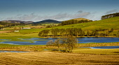 Flooded fields after heavy rain near Broughton in the Scottish Borders Andrew Wilson  /Scottish Viewpoint Scottish Borders,flooding,flooded,flood,weather picture,flooded fields,South Lanarksire,Scotland,nobody