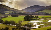 The River Tweed flooding fields after heavy rain near Broughton in the Scottish Borders Andrew Wilson  /Scottish Viewpoint Scottish Borders,flooding,flooded,flood,weather picture,flooded fields,River Tweed,Scotland,nobody