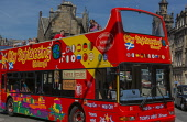 Open top sightseeing bus George IV Bridge Edinburgh Scotland D.G.Farquhar  /Scottish Viewpoint Britain,Culture,Edinburgh,GB,George IV  Bridge,Scotland,Tourism,Tourists,United Kingdom,open top bus,sightseeing,bus,visitors,tourist,coach,summer,people
