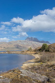 Slioch and Loch Maree near Kinlochewe Highland Scotland D.G.Farquhar  /Scottish Viewpoint Britain,GB,Highland,Loch Maree,Scotland,Slioch,The Slioch,United Kingdom,Wester Ross,munro,munros,highlands,mountain,mountains,hill,hills,water,summer
