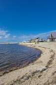 Houses on the shore of Findhorn Bay, Findhorn Moray Scotland D.G.Farquhar  /Scottish Viewpoint Britain,Findhorn,Findhorn Bay,GB,Moray,Scotland,United Kingdom,beach,beaches,sand,sandy,coast,coastal,coastline,water,sea,village,nobody,highland,highlands,houses,house
