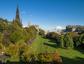 Princes Street Gardens, Edinburgh Allan Wright  /Scottish Viewpoint united kingdom,edinburgh,scotland,lothians,capital city of scotland,auld reekie,balmoral hotel,princes st gardens,south bridge,the bridges,scott monument,garden,park,trees,green,peaceful,restful,sunny