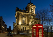 Bank of Scotland Building, The Mound, Edinburgh Allan Wright  /Scottish Viewpoint united kingdom,edinburgh,scotland,lothians,capital city of scotland,auld reekie,bank of scotland building,telephone box,grandeur,classical,ambient light,dusk