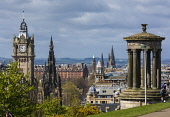 View from Calton Hill, Edinburgh Allan Wright  /Scottish Viewpoint united kingdom,edinburgh,scotland,lothians,capital city of scotland,auld reekie,calton hill,calton hill view,balmoral hotel,princes street,pillars,mausoleum,clocktower,spire,architecture,classical,sum