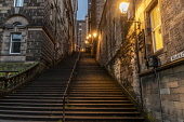 Warriston Close , Edinburgh Old Town. Allan Wright  /Scottish Viewpoint united kingdom,edinburgh,scotland,lothians,capital city of scotland,auld reekie,architecture,closes,close,buildings,city,street,street light,high st,royal mile,old town,dusk,moody,damp,wet,steps,ambie
