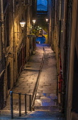 Fleshmarket Close, Edinburgh Old Town Allan Wright  /Scottish Viewpoint united kingdom,edinburgh,scotland,lothians,capital city of scotland,auld reekie,architecture,closes,close,buildings,city,street,street light,high st,royal mile,old town,dusk,moody,damp,wet,steps,ambie