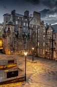 Lady Stair Close, Royal Mile, Edinburgh Allan Wright  /Scottish Viewpoint united kingdom,edinburgh,scotland,lothians,capital city of scotland,auld reekie,architecture,closes,close,buildings,city,street,street light,high st,royal mile,old town,dusk,moody,damp,wet,ambient lig
