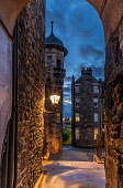 Lady Stair Close, Royal Mile, Edinburgh Allan Wright  /Scottish Viewpoint united kingdom,edinburgh,scotland,lothians,capital city of scotland,auld reekie,architecture,closes,close,buildings,city,street,street light,high st,royal mile,old town,dusk,moody,damp,wet,archway,amb
