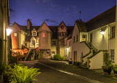 White Horse Close at dusk, Canongate, Royal Mile,  Edinburgh. Allan Wright  /Scottish Viewpoint united kingdom,edinburgh,scotland,lothians,capital city of scotland,auld reekie,dusk,damp,moody,wet,ambient light,atmospheric,whitehorse close,canongate,old town,royal mile,holyrood,close,artisan's,ho