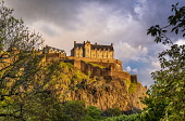 Edinburgh Castle, Edinburgh Allan Wright  /Scottish Viewpoint united kingdom,edinburgh,scotland,lothians,capital city of scotland,auld reekie,edinburgh castle,view from princes st,old town,the mound,historic scotland,castle,architecture,city,buildings,park,trees