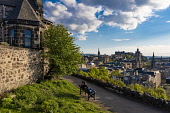 Calton Hill view, Edinburgh Allan Wright  /Scottish Viewpoint united kingdom,edinburgh,scotland,lothians,capital city of scotland,auld reekie,sunny,blue sky,calton hill,view,cityscape,skyline,princes,street,castle,people,balmoral