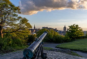 Calton Hill view, Edinburgh Allan Wright  /Scottish Viewpoint united kingdom,edinburgh,scotland,lothians,capital city of scotland,auld reekie,sunny,blue sky,calton hill,calton hill view,balmoral hotel,scott monument,classical,atmospheric,peaceful,cannon,balmoral