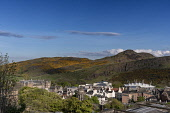 Holyrood Park and Arthur's Seat from Calton Hill, Edinburgh Allan Wright  /Scottish Viewpoint united kingdom,edinburgh,scotland,lothians,capital city of scotland,auld reekie,sunny,blue sky,calton hill view,holyrood park,arthur's seat,salisbury crags,scottish parliament,holyrood,palace,dynamic,