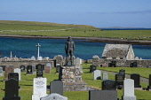 Longhope, and memorial to lifeboat disaster, on South Walls. Orkney Allan Wright /Scottish Viewpoint longhope,memorial,orkney,scotland,scottish,coast,coastal,coastline,water,sea,grave,graves,graveyard,gravestone,gravestones,religion,island,islands,isle,isles,south,walls