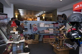 Cairngorm Mountain   Interior of  the shop and articles for sale Gillian Frampton/HIE 2020,Mountain,cairngorm,ski,HIE2,activity,activities,skiing,skier,skiers,sport,snow,snowsport,snowsports,winter,cairngorms,mountains,hill,hills,national,park,in,shop,top