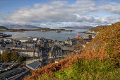 Autumn view of Oban and bay from the old hydrpathic, Argyll Tony Hardley /Scottish Viewpoint scotland,oban,autumn,hydro,argyll,fall,town,oban bay,islands,ferries,autumn oban,landscape,west highlands,west coast,west coast scotland