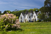 Achamore House , Isle of Gigha, Inner Hebrides Allan Wright  /Scottish Viewpoint hebridean,high pressure,bright,blue sky,peaceful,restful,summer,sunny,tranquil,colourful,scotland,argyll & bute,inner hebrides,james,horlick,achamore,gigha,houses,house