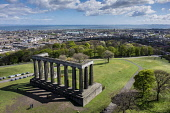 Calton Hill pillars monument, Edinburgh Allan Wright  /Scottish Viewpoint united kingdom,edinburgh,scotland,lothians,capital city of scotland,auld reekie,calton hill,calton hill view,national monument,firth of forth,historic scotland,monument,pillars,park,classical,distant,
