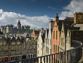 Victoria street or west bow balcony Edinburgh Allan Wright  /Scottish Viewpoint united kingdom,edinburgh,scotland,lothians,capital city of scotland,auld reekie,victoria street,west bow,heriots,nobody,summer