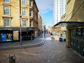 Normally bustling shopping hub Sauchiehall Street is empty Glasgow city centre is deserted as people stay at home amid Coronavirus crisis Tony Clerkson /Scottish Viewpoint Coronavirus,Coronavirus lockdown,Covid-19,Glasgow,Glasgow City Centre,Glasgow lockdown,Quiet glasgow city centre,UK Lockdown,deserted Glasgow streets,empty commercial centre,empty shopping centre,empt
