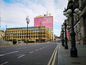People Make Glasgow signs over eerily quiet George Square as Glasgow city centre is deserted as people stay at home amid Coronavirus crisis Tony Clerkson /Scottish Viewpoint Coronavirus,Coronavirus lockdown,Covid-19,Glasgow,Glasgow City Centre,Glasgow lockdown,Quiet glasgow city centre,UK Lockdown,deserted Glasgow streets,empty commercial centre,empty shopping centre,empt