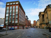 Eerily quiet Merchant City as Glasgow city centre is deserted as people stay at home amid Coronavirus crisis Tony Clerkson /Scottish Viewpoint Coronavirus,Coronavirus lockdown,Covid-19,Glasgow,Glasgow City Centre,Glasgow lockdown,Quiet glasgow city centre,UK Lockdown,deserted Glasgow streets,empty commercial centre,empty shopping centre,empt