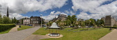 Panoramic view of small Park with miniature bandstand, Perth Road, Dundee Allan Wright /Scottish Viewpoint United Kingdom,scotland,angus,dundee,urban,flowers and plants,trees,park.,perth road