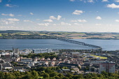 view from observatory of Dundee city Allan Wright /Scottish Viewpoint View from observatory of Dundee City and Tay Estuary,United Kingdom,scotland,angus,dundee,river tay,cbd,central business district,houses,port,tay estuary,coast,coastal,coastline,water,sea