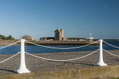 Broughty Ferry Castle Allan Wright /Scottish Viewpoint United Kingdom,scotland,angus,dundee,urban,river tay,tay estuary,broughty ferry castle,castle,white cast iron fence,ornate