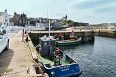 Macduff harbour, fishing boats, Aberdeenshire, Moray Firth, Scotland UK Dennis Barnes /Scottish Viewpoint Macduff,harbour,fishing,boats,Moray,Firth,Coast,landscape,Scottish,UK,United Kingdom,coastal,coastline,water,sea,village,villages