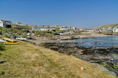 Collieston coastal village, harbour and beach,  Aberdeenshire, Scotland UK Dennis Barnes /Scottish Viewpoint Panorama,Collieston,village,harbour,beach,fishing,sands,Aberdeenshire,north,east coast,coastal,boats,coastline,holiday,rocks,sunny,Scottish,UK,United Kingdom,people,sea,villages