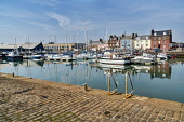 Arbroath Harbour, marina,  boats, Angus Region, Scotland UK Dennis Barnes /Scottish Viewpoint Arbroath,Harbour,marina,boats,colourful,reflections,Angus,coast,coastal,sea,Region,Scottish,UK,United Kingdom,Travel,boat,yacht,yachts,coastline,water