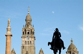The domes of the City Chambers, George Square,  Glasgow  Scotland Chris Robson /Scottish Viewpoint city,nobody,outdoors,daytime,chambers,statues