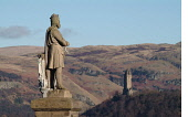 The Statue of Robert the Bruce at Stirling Castle with a view beyond to the Wallace Monument Chris Robson /Scottish Viewpoint stirling,city,nobody,outdoors,daytime