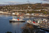 Autumn view over Oban Bay, Argyll Tony Hardley /Scottish Viewpoint scotland,oban,oban bay,town,argyll,ferries,calmac ferries,caledonian macbrayne,mccaigs tower,landscape,coast,coastal,coastline,water,sea