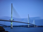 Queensferry Crossing Jason Baxter /Scottish Viewpoint dusk,evening,forth,firth of forth,long exposure,low tide,maritime,marine,medium format,scotland,scottish,summer,tidal,queensferry crossing,queensferry,crossing,bridge,infrastructure,modern bridge,even