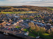 Aerial Photograph of Kircudbright, Dumfries & Galloway in the late winter Jason Baxter /Scottish Viewpoint aerial,aerial photograph,coast,coastal,daytime,drone,dumfries & galloway,fishing town,harbor,harbour,kircudbright,landscape,lowlands,scotland,scottish,scottish coast,shoreline,skyline,southern scotlan