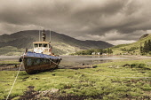 Beached boat by Loch Duich, Highlands Bill McKenzie/Scottish Viewpoint coast,coastal,coastline,water,boat,boats