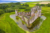 Aerial view of Caerlaverock Castle in Dumfries and Galloway. Scotland, UK Iain Masterton /Scottish Viewpoint Scotland,scottish,Caerlaverock Castle,uk,united kingdom,britain,monument,re-opening,aerial view,opening,drone image,from above,exterior,landmark,historical monument,scottish castle,dumfries and gallow